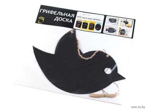 "Доска грифельная декоративная ""Птичка"" (38х25 см)"