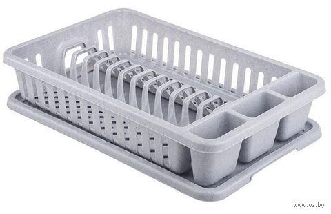 Сушилка для посуды (серая)
