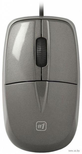 Проводная оптическая мышь Defender #1 MS-940 (серая) — фото, картинка