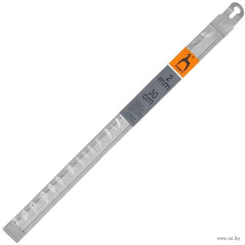 Спицы чулочные для вязания (алюминий; 2 мм; 30 см) — фото, картинка
