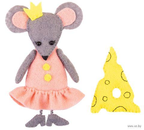 """Набор для шитья из фетра """"Мышка с сыром"""" — фото, картинка"""