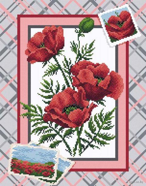 """Алмазная вышивка-мозаика """"Маковое великолепие"""" (380х480 мм) — фото, картинка"""