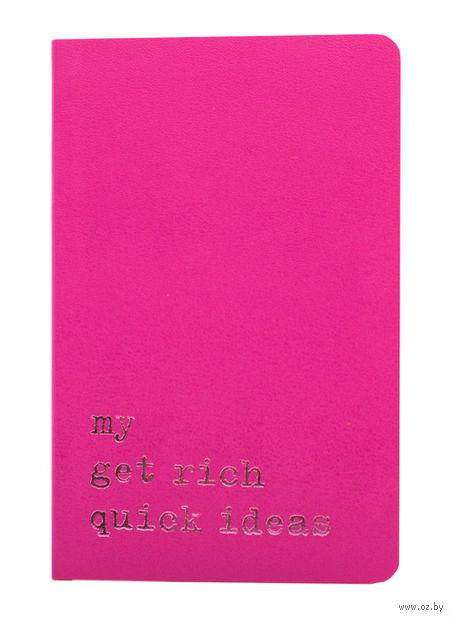"""Записная книжка Молескин """"Volant. My Get Rich Quick Ideas"""" в линейку (карманная; мягкая темно-розовая обложка)"""