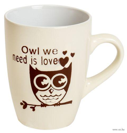 "Кружка ""Beatles-Owl"" (белая) — фото, картинка"