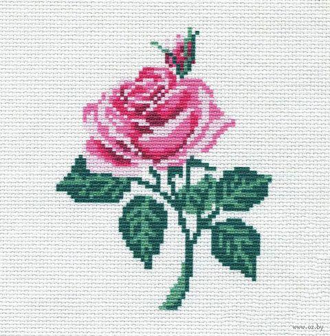 """Вышивка крестом """"Роза"""" (190х190 мм) — фото, картинка"""