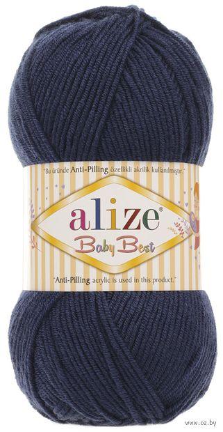 "Пряжа ""ALIZE. Baby Best №58"" (100 г; 240 м; темно-синий) — фото, картинка"