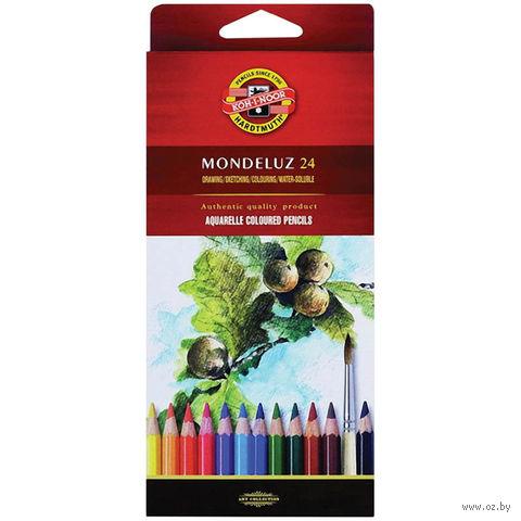 """Акварельные карандаши """"Mondeluz"""" (24 цвета)"""
