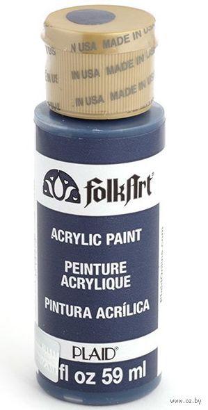 """Краска акриловая """"FolkArt. Acrylic Paint"""" (морская синяя; 59 мл; арт. PLD-00403) — фото, картинка"""