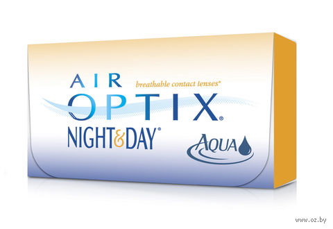"Контактные линзы ""Air Optix Night and Day Aqua"" (1 линза; +4,0 дптр) — фото, картинка"