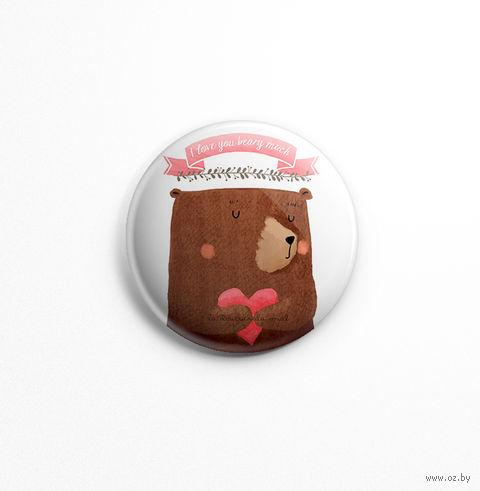 "Значок маленький ""Медведь"" (арт. 049) — фото, картинка"