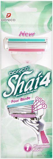 """Станок для бритья одноразовый """"Shai Vanilla 4"""" (1 шт.) — фото, картинка"""