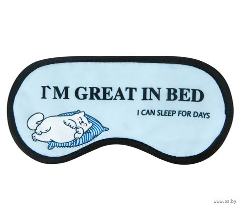 "Маска для сна ""Great in bed"" — фото, картинка"