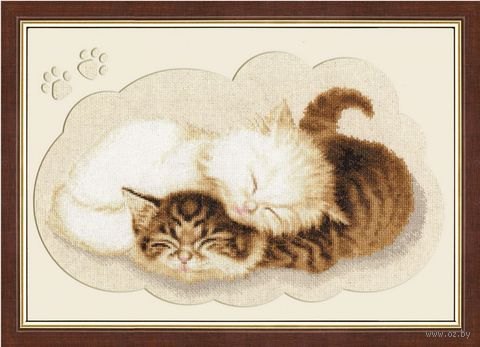 """Вышивка крестом """"Котята"""" (220х370 мм) — фото, картинка"""