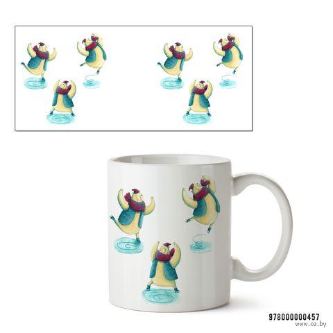 """Кружка """"Кот на коньках"""" (арт. 457)"""