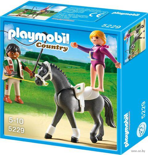 "Набор фигурок ""Наездница-эквилибристка на лошади"" — фото, картинка"