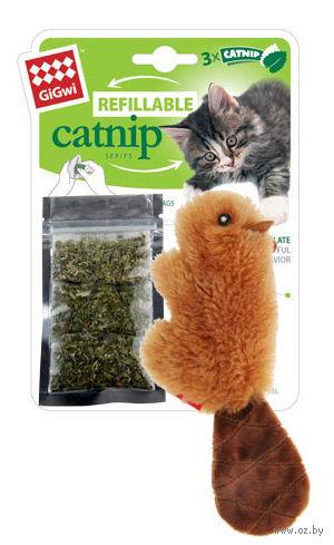 """Игрушка для кошек """"Бобренок"""" с кошачьей мятой (16 см) — фото, картинка"""