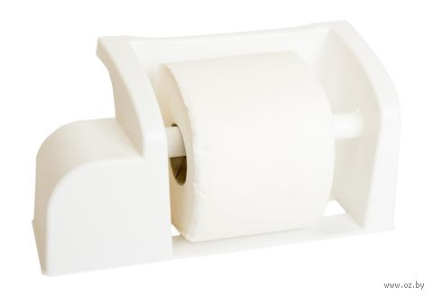 """Держатель для туалетной бумаги """"Mira"""" (снежно-белый) — фото, картинка"""
