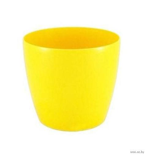 """Кашпо """"Magnolia"""" (18 см; желтое) — фото, картинка"""