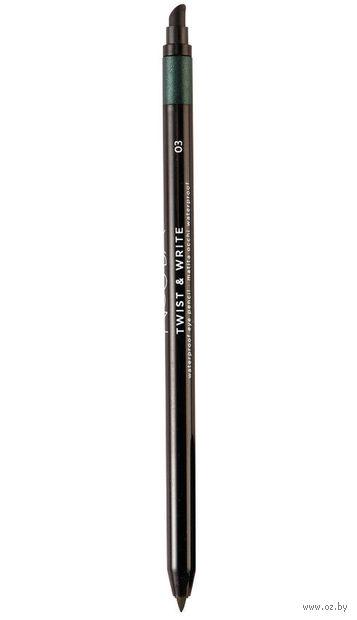 """Карандаш для глаз """"Twist and Write Waterproof Eye Pencil"""" водостойкий (тон: 03) — фото, картинка"""