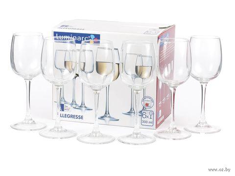 """Бокал для вина стеклянный """"Allegresse"""" (6 шт.; 300 мл) — фото, картинка"""