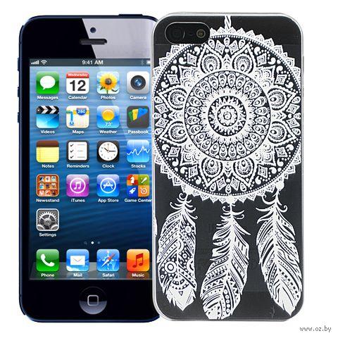 "Чехол для iPhone 5/5S ""Мехенди Ловец снов"" (белый) — фото, картинка"