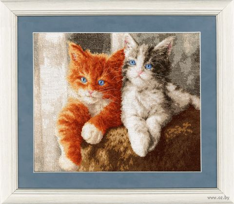 """Вышивка крестом """"Пушистые котята"""" (245х305 мм) — фото, картинка"""