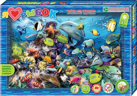 "Картина-аппликация ""Я люблю рыбок"""