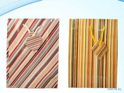 Пакет бумажный подарочный (в ассортименте; 18х23х8 см; арт. МС-1429)