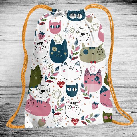 """Рюкзак-мешок """"Cats"""" (арт. 11) — фото, картинка"""
