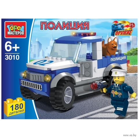 """Конструктор """"Полиция. Полицейский пикап"""" (180 деталей) — фото, картинка"""