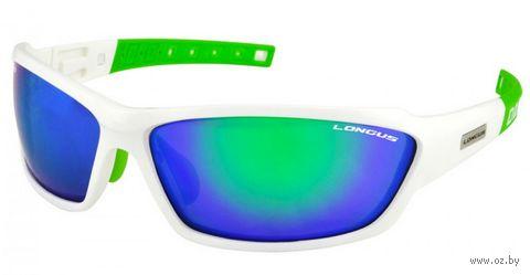 """Очки солнцезащитные """"Wind FF"""" (бело-зелёные; арт. 392076) — фото, картинка"""