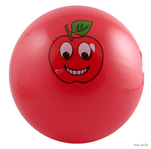"""Мяч """"Яблоко-смайлик"""" (15 см)"""