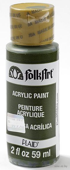 "Краска акриловая ""FolkArt. Acrylic Paint"" (оливковый зеленый, 59 мл; арт. PLD-00449)"