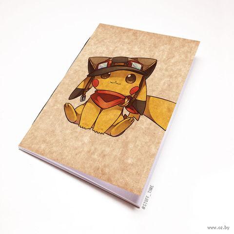 """Блокнот крафт """"Пикачу"""" (А5; арт. 937) — фото, картинка"""