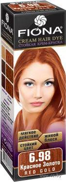 """Крем-краска для волос """"Fiona"""" (тон: 6.98, красное золото)"""