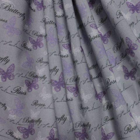 "Ткань ""Бабочки и розы"" №6 — фото, картинка"