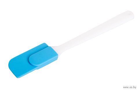 Лопатка кухонная силиконовая (235 мм; синяя) — фото, картинка