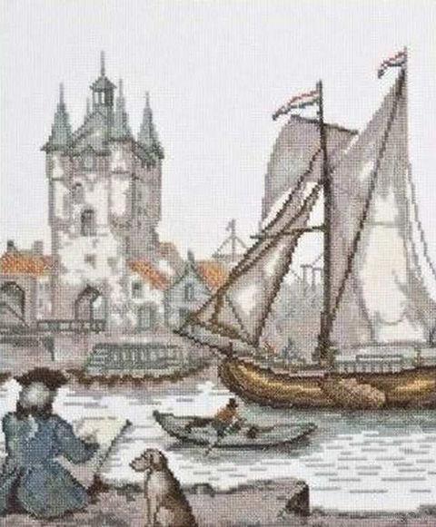 """Вышивка крестом """"Голландский художник"""" (230х260 мм) — фото, картинка"""