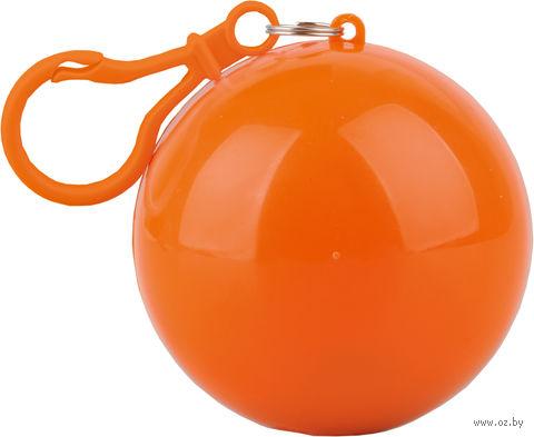 Дождевик в футляре с карабином (оранжевый) — фото, картинка