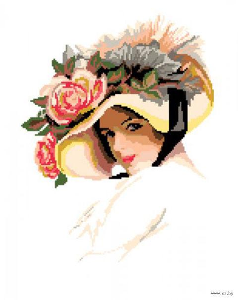"""Вышивка крестом """"Дама в шляпе"""" (450x330 мм) — фото, картинка"""