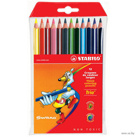 """Цветные карандаши """"Trio"""" (12 цветов)"""