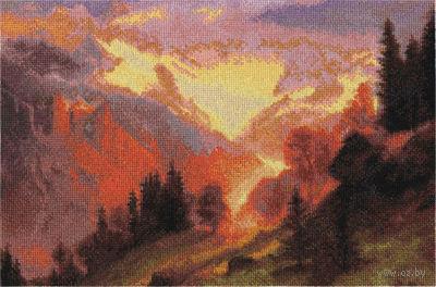"""Вышивка крестом """"Расплавленное солнце"""" (325x215 мм) — фото, картинка"""