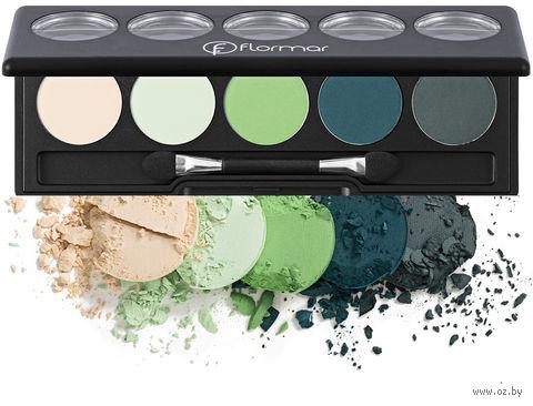 "Палетка теней для век ""Color Palette Eye Shadow"" тон: 009, transforming green — фото, картинка"