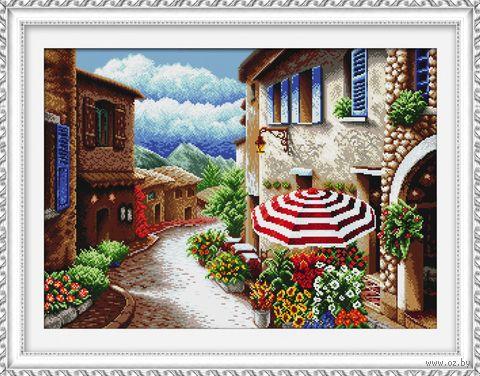 """Вышивка крестом """"Солнечная улица"""" (520х370 мм) — фото, картинка"""