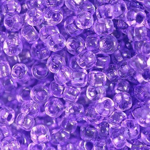 Бисер прозрачный №01123 (фиолетовый; 10/0) — фото, картинка