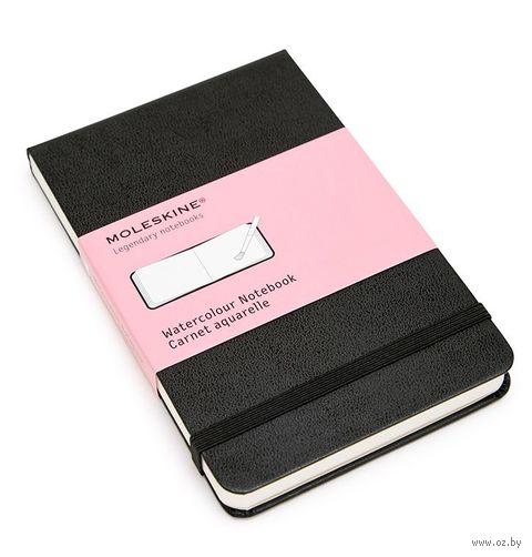 """Скетчбук для акварели Молескин """"Classic"""" (карманный, твердая черная обложка)"""