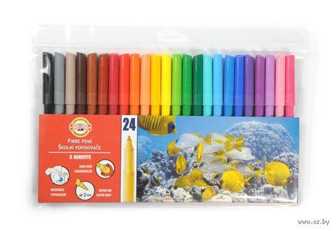 Фломастеры, смываемые водой (24 цвета; арт.771002BD01TE)