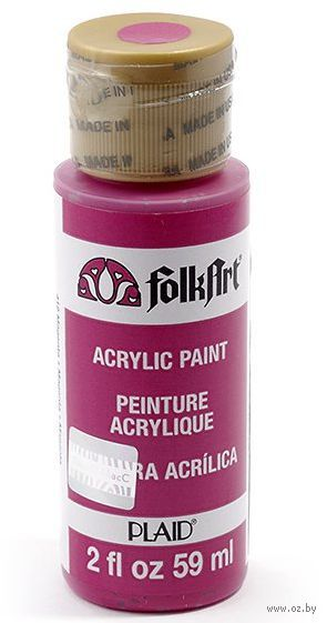 "Краска акриловая ""FolkArt. Acrylic Paint"" (пурпур, 59 мл; арт. PLD-00412)"