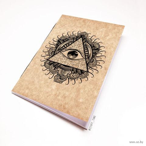 """Блокнот крафт """"Всевидящее око"""" А5 (арт. 942)"""