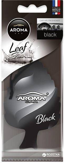 """Ароматизатор подвесной """"Leaf"""" (black) — фото, картинка"""